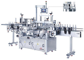 China Three Linear Self Adhesive Labeling Machine front / back / neck Beverage / Food / Daily Chemical supplier