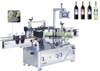 Wine Bottle Labeler Machines For Red Wine Bottle Front And Back Side