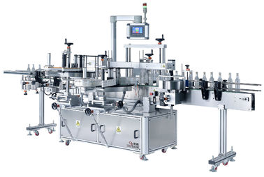 Self Adhesive Labeling Machine For Plastic Pet Bottle , Bottle Label Applicator Machine