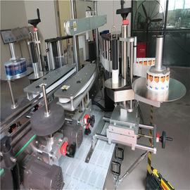 Sticker Label Applicator , Single / Double Side Round Bottle Labeling Machine