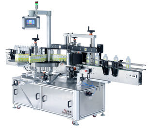 China Full Automatic Square Bottle Labeling Machine One Label 30-110 mm supplier