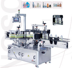 Machine Oil Bottle Label Applicator Detergent Front And Back Labeling Machine