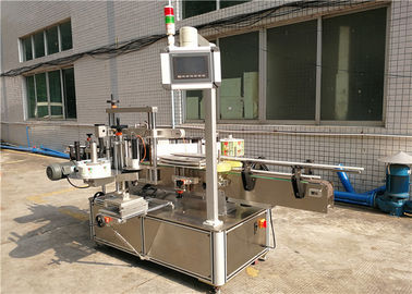 Double Side Flat Bottle Labeling Machine for Transparent Labels without bubbles