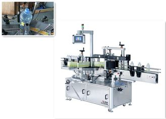 Double side sticker labelling machine and orientation wrap-around labeling