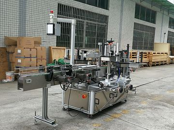 CE Glass Bottle Labeling Machine , Sticker Front And Back Labelling Machines For Round Glass Bottles