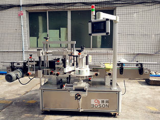 Automatic Adhesive glass bottle labeling machine to do the Front and neck