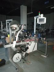 Bottle Top And Bottom Labeling Machine , Production Speed 1-50m/min