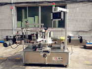 China Automatic Adhesive glass bottle labeling machine to do the Front and neck company